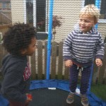 Loving the trampoline