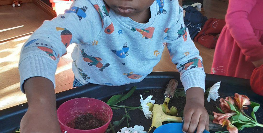 Sensory learning through real objects
